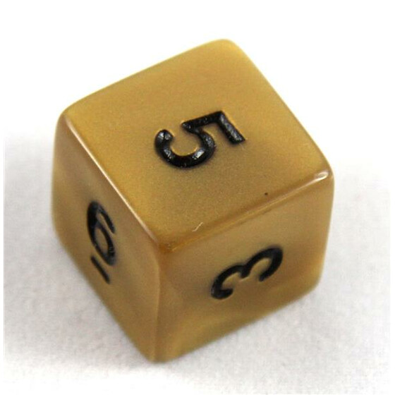 Olympic Gold d6 small numbers