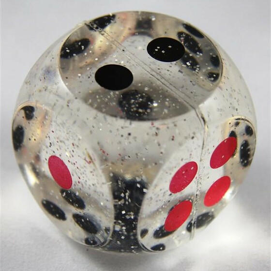 Bouncy Dice 4 cm clear