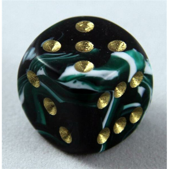 D6 15mm Marble green