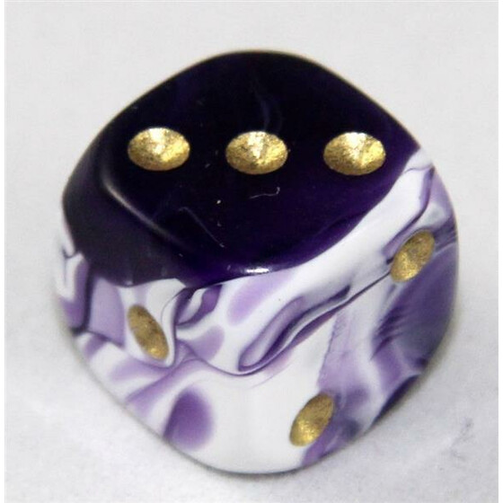 D6 12mm Marble purple