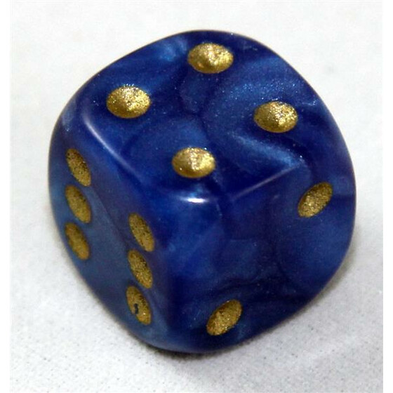 D6 12mm Pearl blue