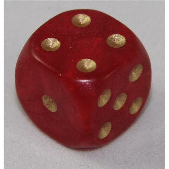 D6 12mm Pearl red