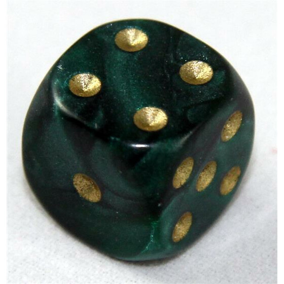 D6 12mm Pearl green