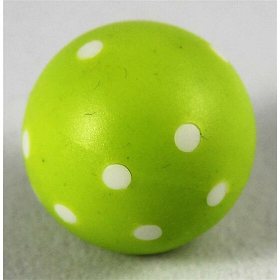 Round Dice D6 Light green/White