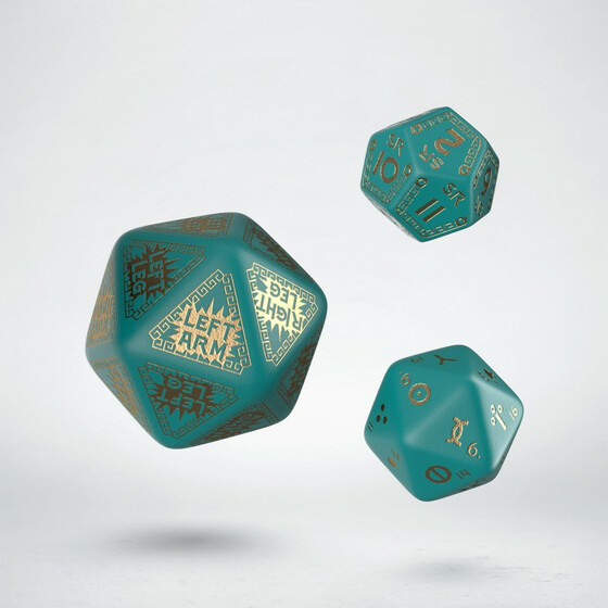 Runequest Expansion Dice Turquoise/Gold