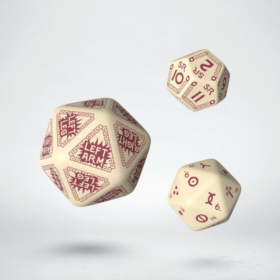 Runequest Expansion Dice Beige/Burgundy