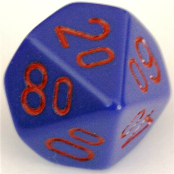 Chessex Opaque Purple/Red D10%