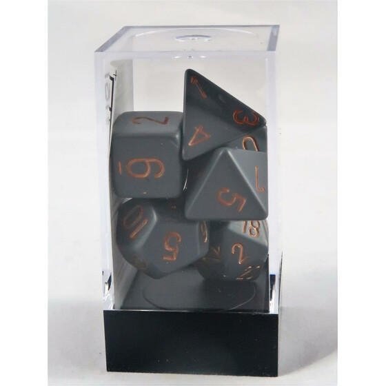 Chessex Opaque Dark Grey/Copper Set boxed