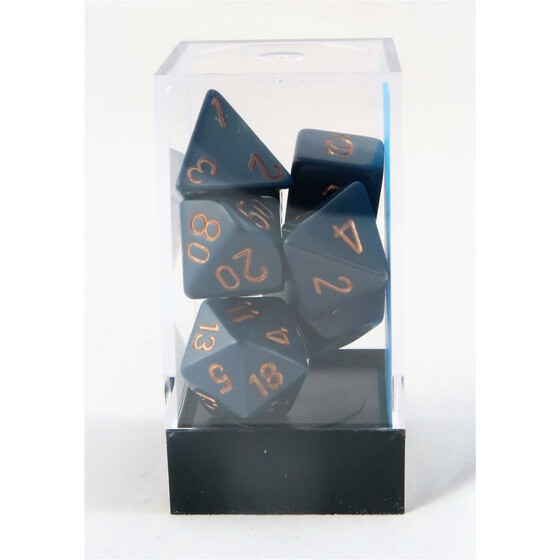 Chessex Opaque Dusty Blue Set boxed