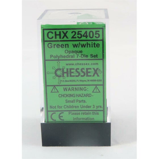 Chessex Opaque green set boxed
