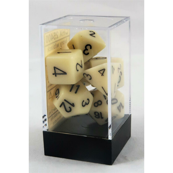Chessex Opaque Ivory Set boxed