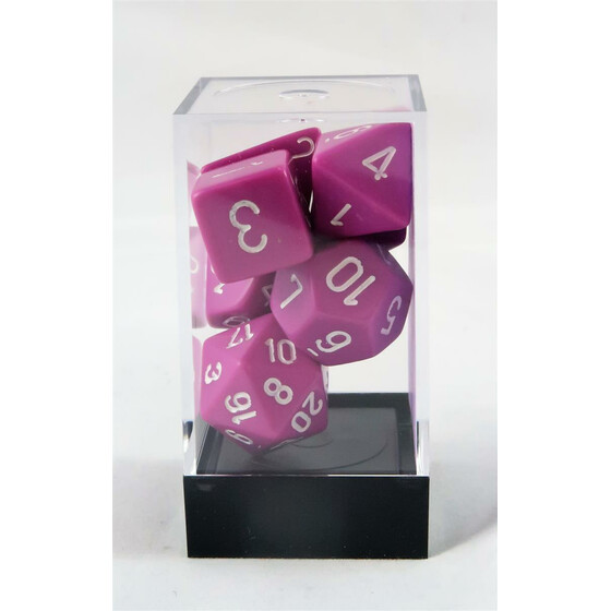 Chessex Opaque light purple set boxed