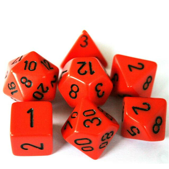 Chessex Opaque Orange Set boxed