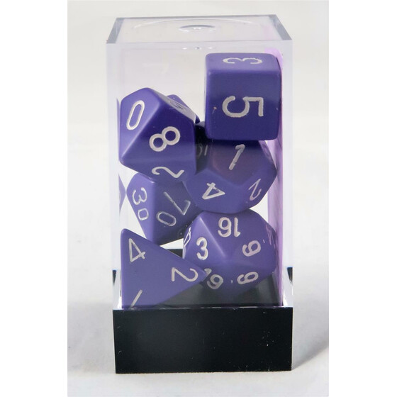 Chessex Opaque purple/white set boxed