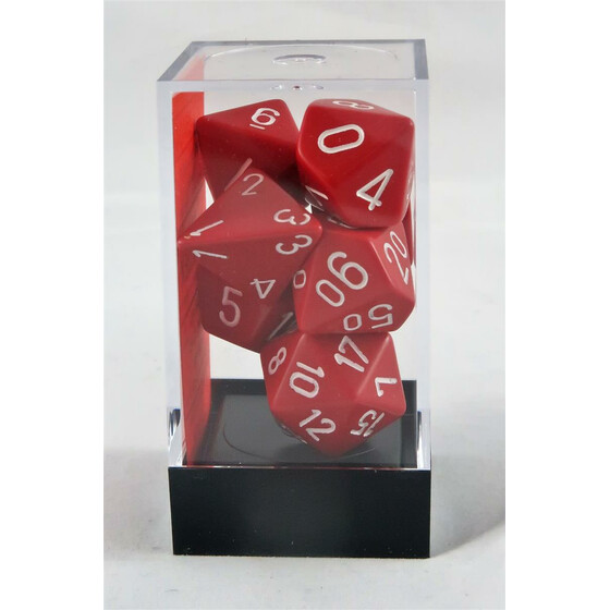 Chessex Opaque Red/White Set boxed