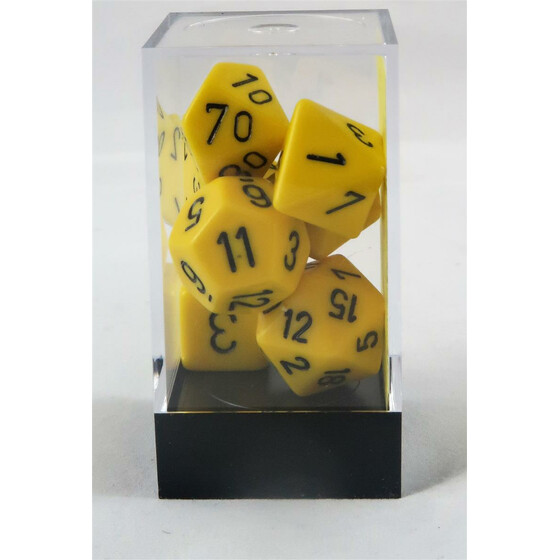 Chessex Opaque Yellow Set boxed