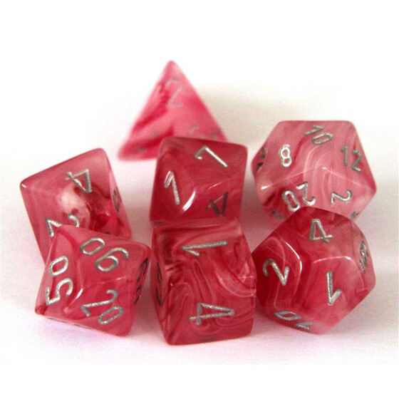 Chessex Ghostly Glow Pink/silver Set boxed