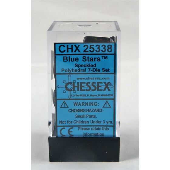 Chessex Speckled Blue Star Set boxed