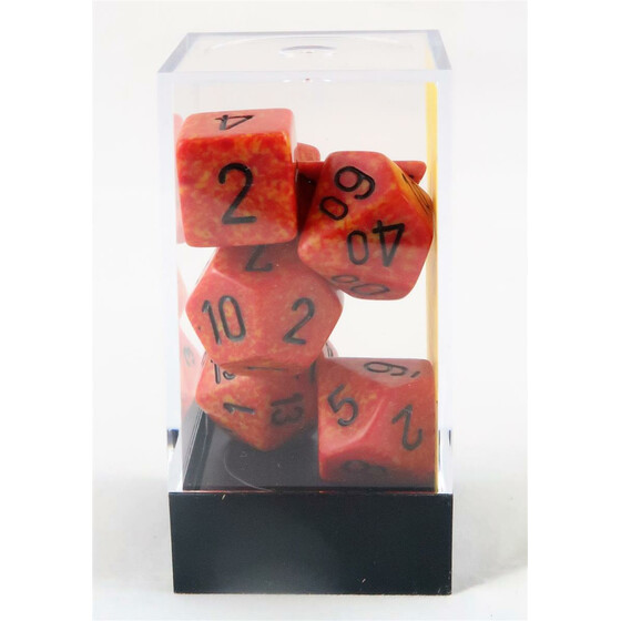 Chessex Speckled Fire Set boxed
