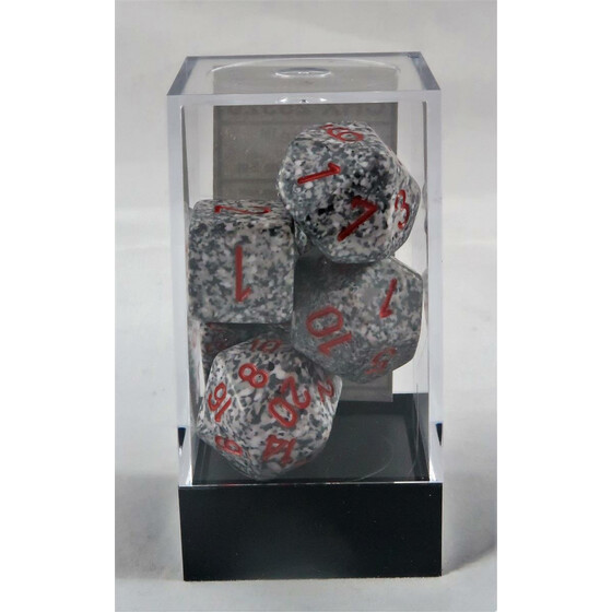 Chessex Speckled Granite set boxed