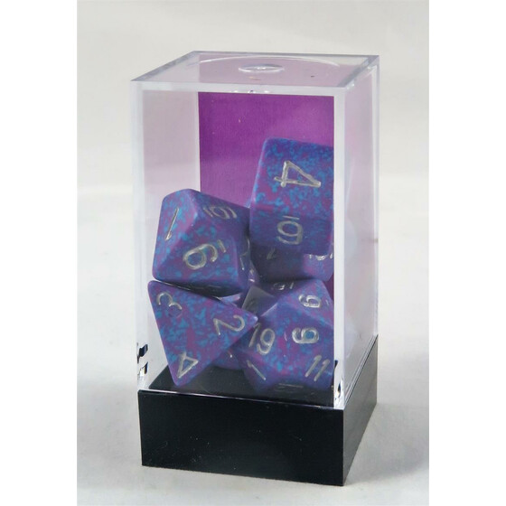 Chessex Speckled Silver Tetra set boxed