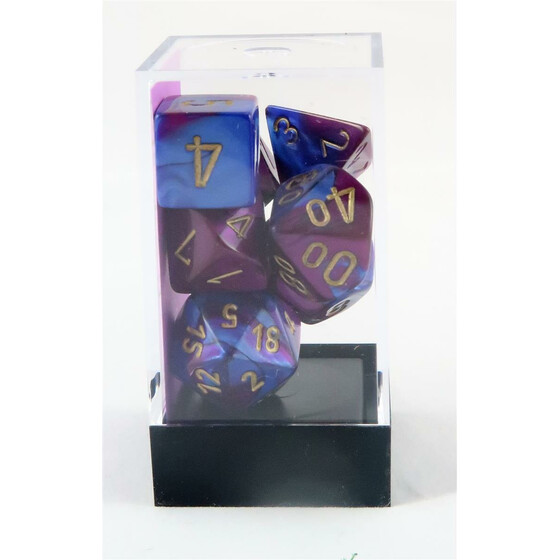 Chessex Gemini blue-purple/gold set boxed