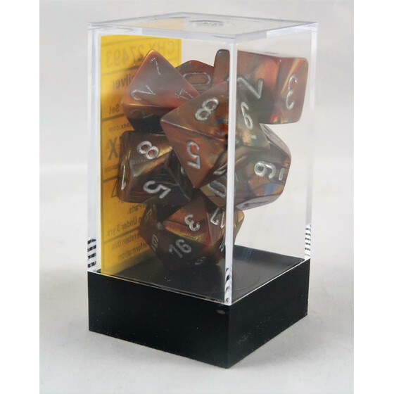 Chessex Lustrous gold/silver set boxed