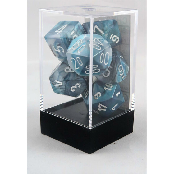 Chessex Lustrous Slate/White Set boxed