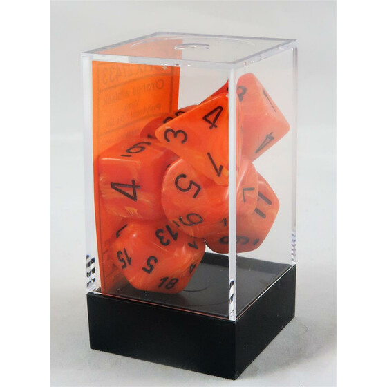 Chessex Vortex orange/black set boxed