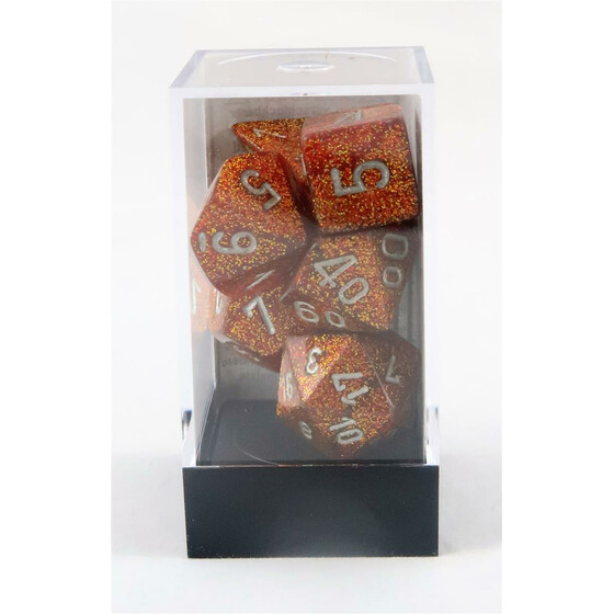 Chessex Glitter gold/silver Set boxed