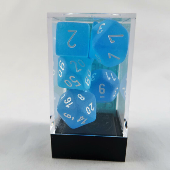 Chessex Frosted Caribbean Blue Set boxed
