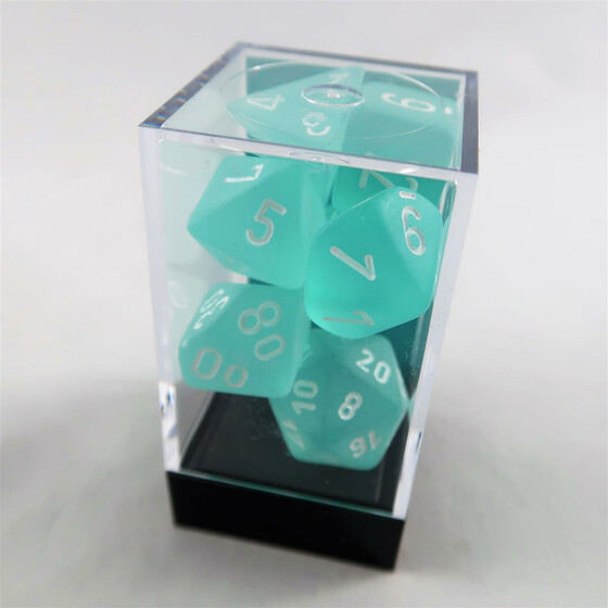 Chessex Frosted Teal Set boxed