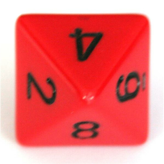 Chessex Opaque Red/Black W8