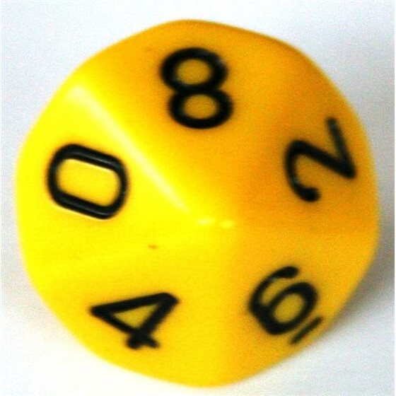 Chessex Opaque Yellow D10