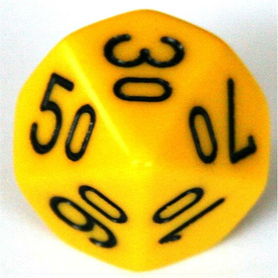 Chessex Opaque Yellow D10%