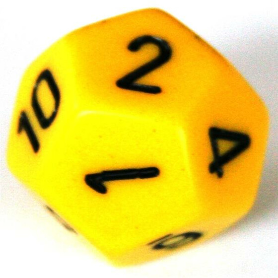 Chessex Opaque Yellow D12