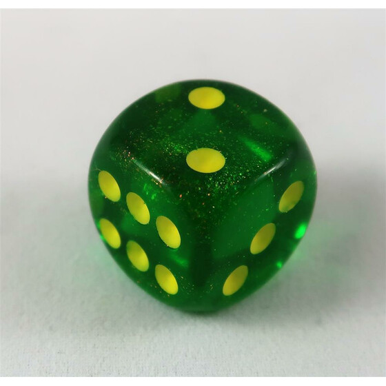 Chessex Borealis Maple Green D6 12mm