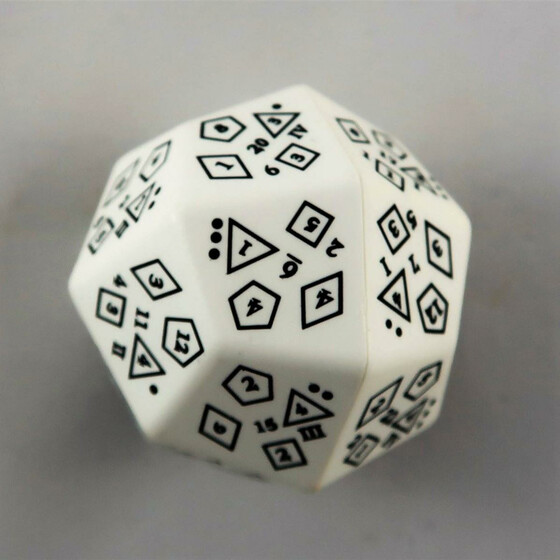 Total Dice D18 white