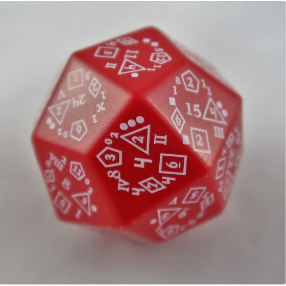 Total Dice D18 red