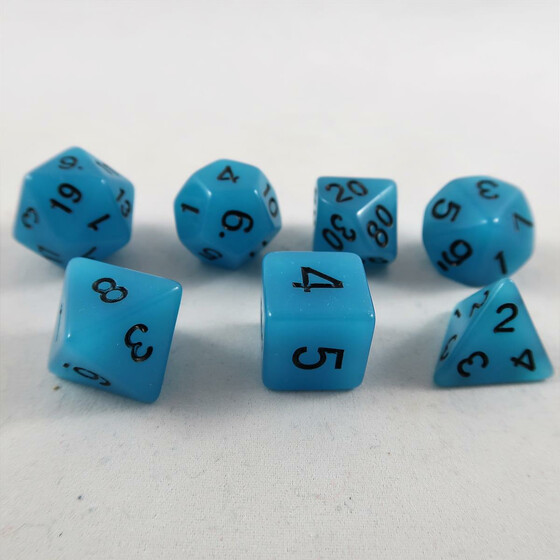 Fluorescent dice blue Set