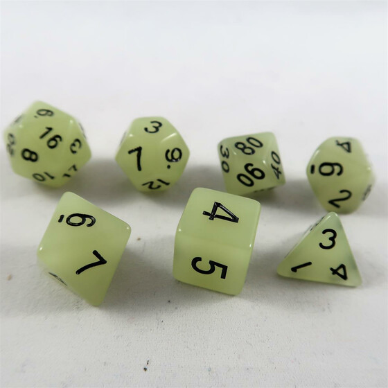 Fluorescent dice white Set
