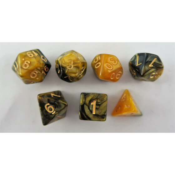 Marbled yellow-black/gold