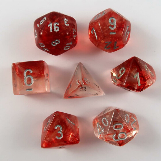 Chessex Nebula Red Set boxed
