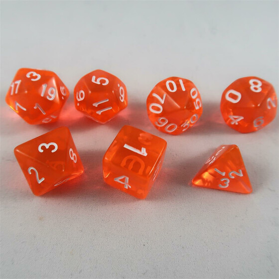 Würfel Stube translucent orange Set