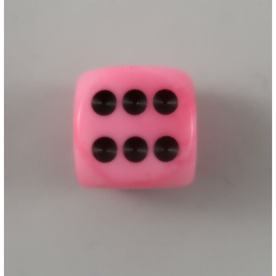 Chessex Vortex Snow Pink D6 16mm