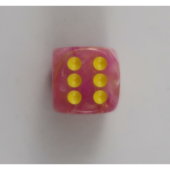 Chessex Leaf Fuchsia D6 16mm