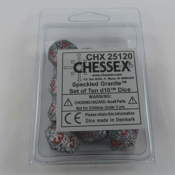 Chessex Speckled Granite 10 x W10 Set