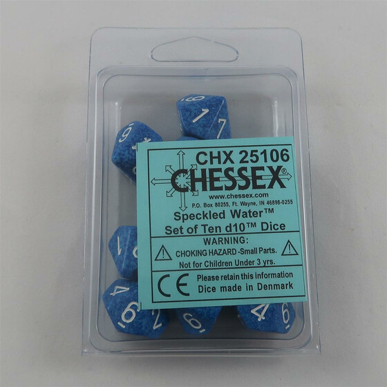 Chessex Speckled Water 10 x W10 Set