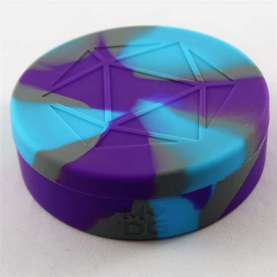 Silicon Round Dice Case purple/light blue/grey