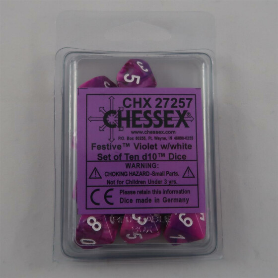 Chessex Festive Violet 10 x W10 Set